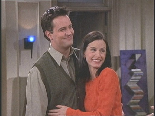 chandler and monica gif